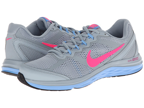 Nike - Dual Fusion Run 3 (Light Magnet Grey/White/University Blue/Hyper Pink) Women