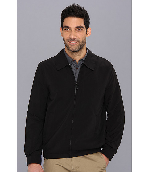 Perry Ellis - Microfiber Golf Jacket (Black) Men