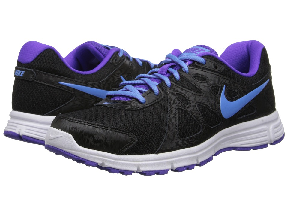 Nike - Revolution 2 (Black/Hyper Grape/White/University Blue) Women's Running Shoes
