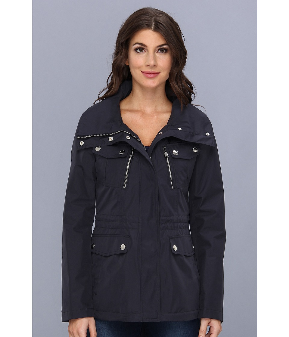 Nautica - Short Anorak w/ Reflective Piping (Mystic Blue) Women's Coat