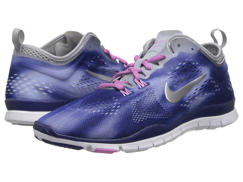 Nike - Free 5.0 TR Fit Wash (Deep Royal/Metallic Silver) Women's Running Shoes