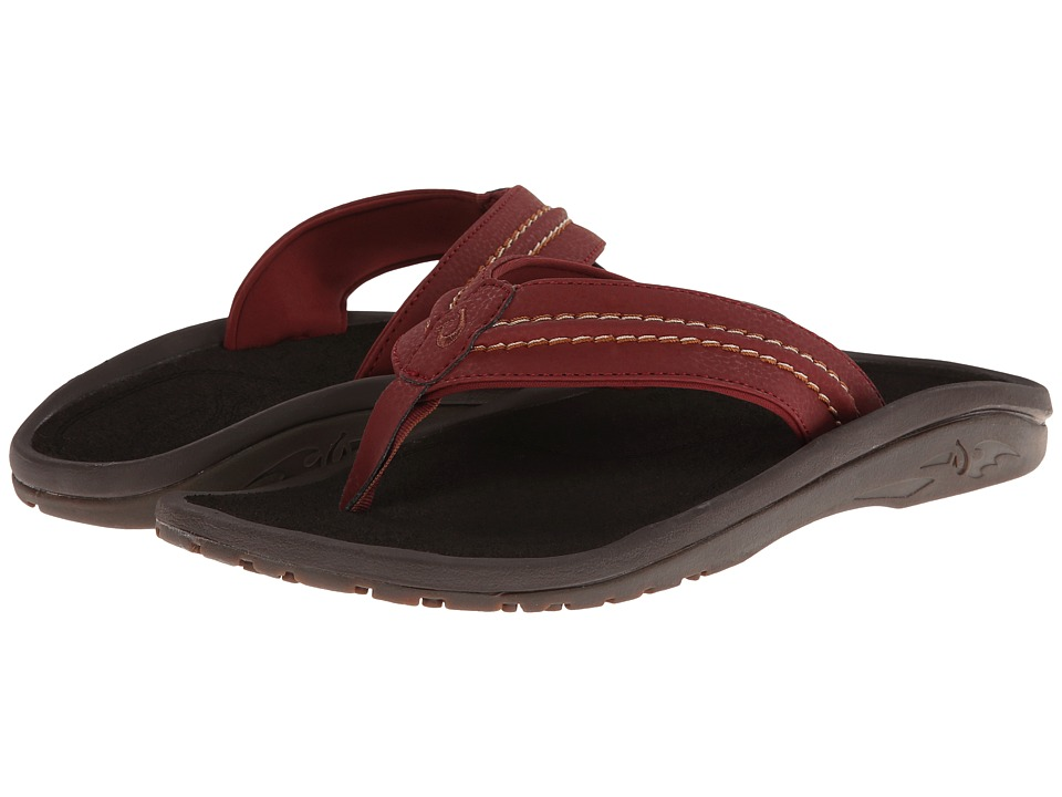 OluKai - Hokua (Red Earth/Dark Java) Men's Sandals