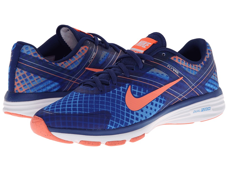 Nike - Dual Fusion TR 2 Print (Hyper Cobalt/Marlin/Chambray/Bright Mango) Women's Cross Training Shoes