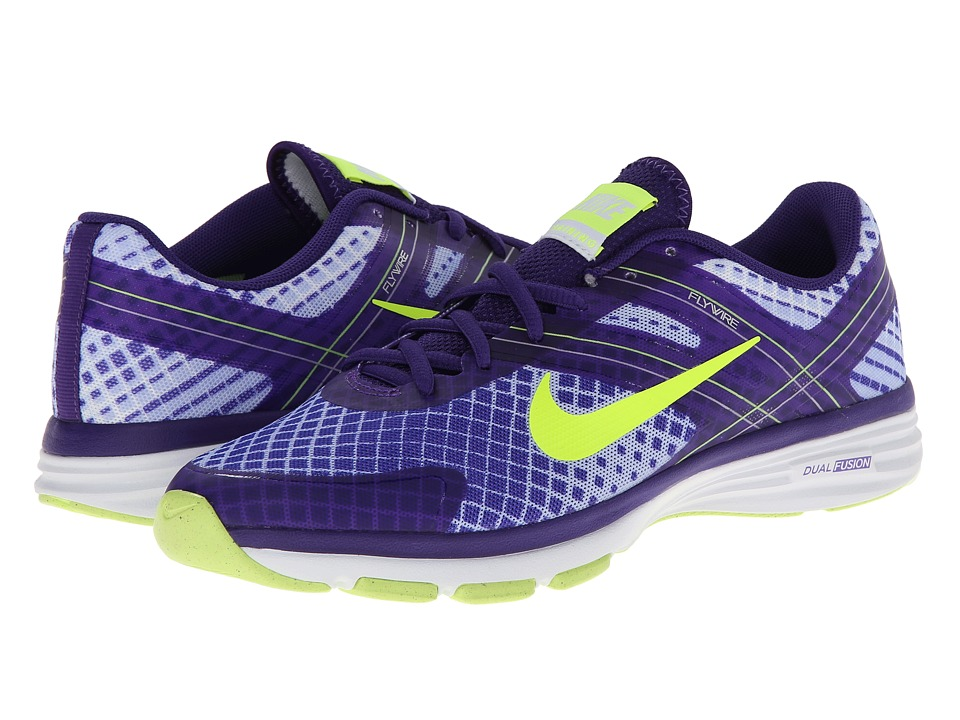 Nike - Dual Fusion TR 2 Print (Hyper Grape/Dark Concord/Hydrangeas/Volt) Women's Cross Training Shoes