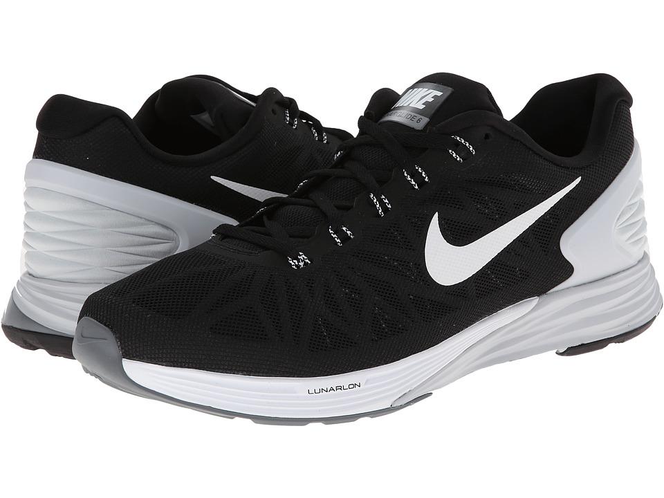 Nike - LunarGlide 6 (Black/Pure Platinum/Cool Grey/White) Men