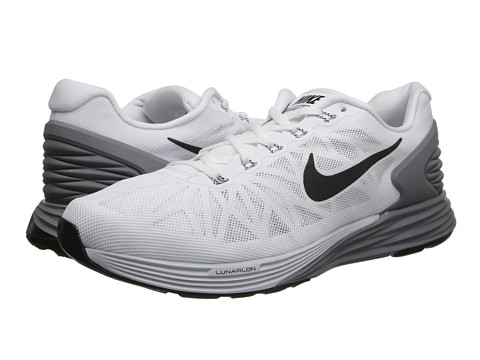 Nike - LunarGlide 6 (White/Pure Platinum/Cool Grey/Black) Men