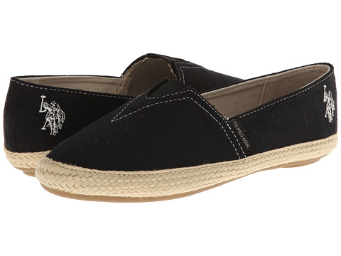 U.S. POLO ASSN. - Rhea (Black) Women's Slip on Shoes