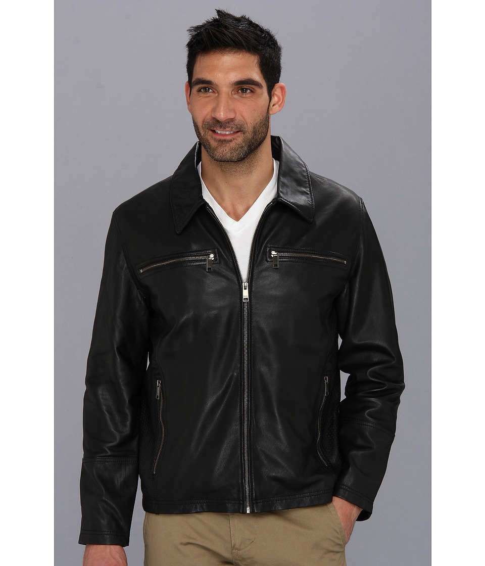 Marc New York by Andrew Marc - Garner Leather Jacket (Black) Men's Coat