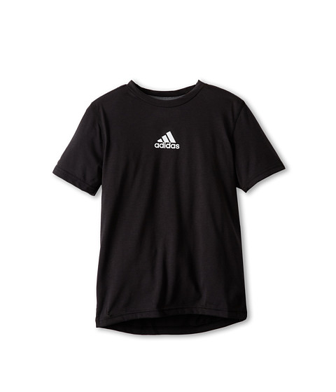 adidas Kids - Ultimate S/S Solid (Little Kids/Big Kids) (Black) Boy