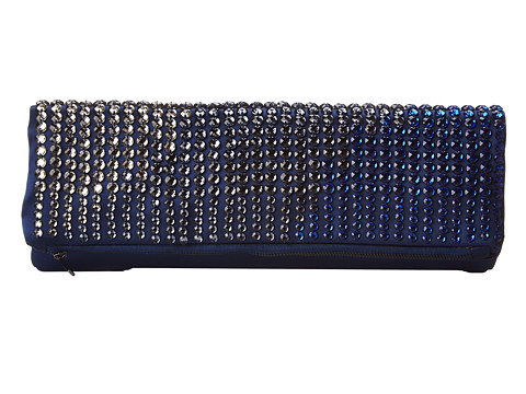 BCBGMAXAZRIA - Carina Signature Foldover Clutch (Blue Depths) Clutch Handbags