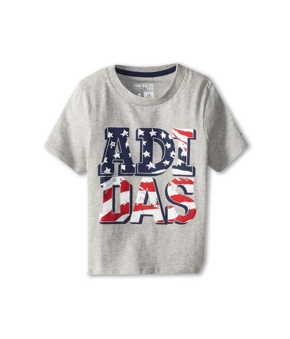 adidas Kids USA Tee Boys T Shirt (Gray)