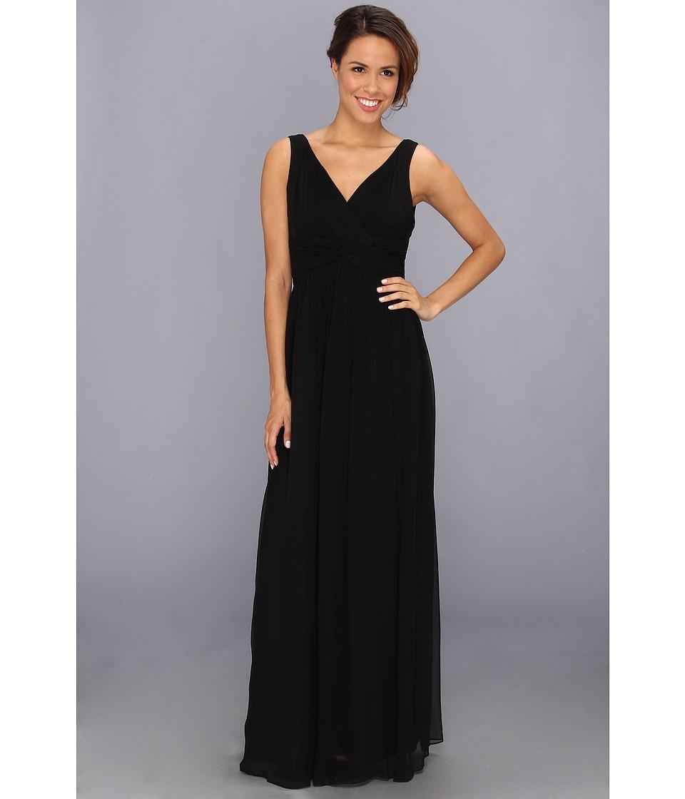 Donna Morgan - Julie Bra Friendly Long Gown (Black) Women