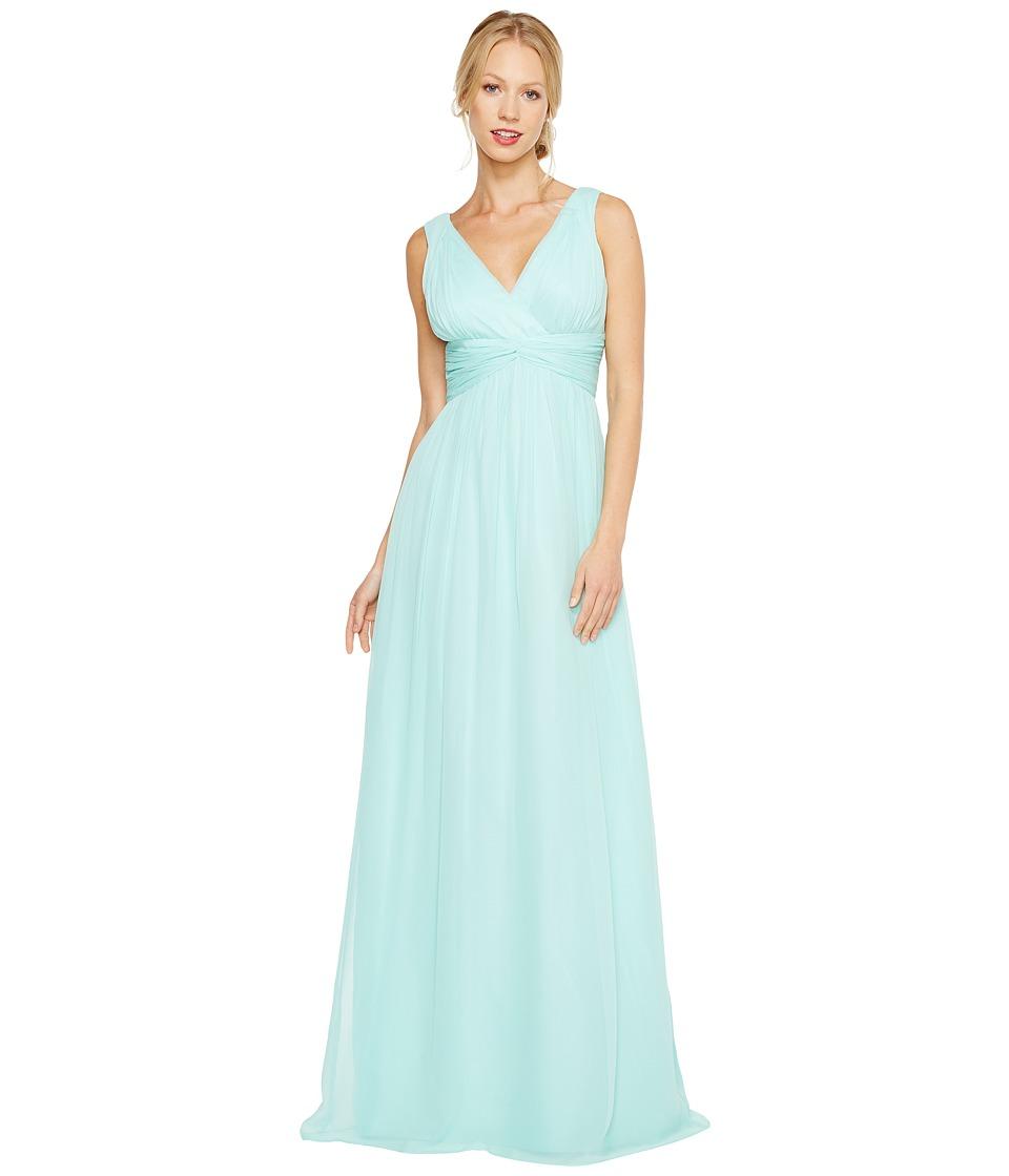 Donna Morgan - Julie Bra Friendly Long Gown (Spearmint) Women's Dress