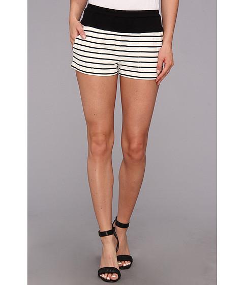 BCBGMAXAZRIA - Teagan Shorts (Off White/Black) Women's Shorts