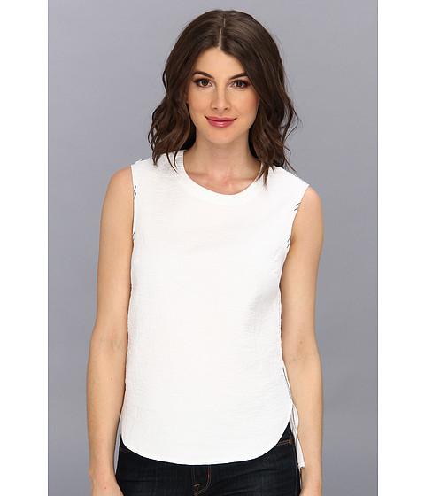 BCBGMAXAZRIA - Christiane Woven Sportswear Top (White) Women's Sleeveless