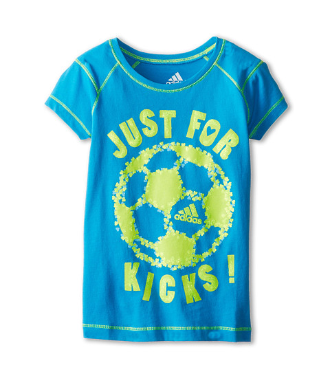 adidas Kids - Crazy Tee (Infant/Toddler/Little Kids) (Solar Blue) Girl