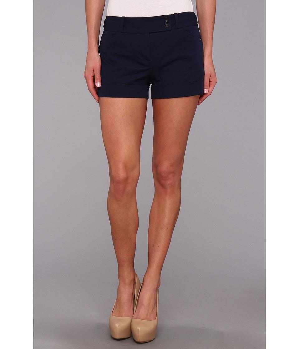 BCBGMAXAZRIA - Symon Cuffed Short (Navy) Women's Shorts