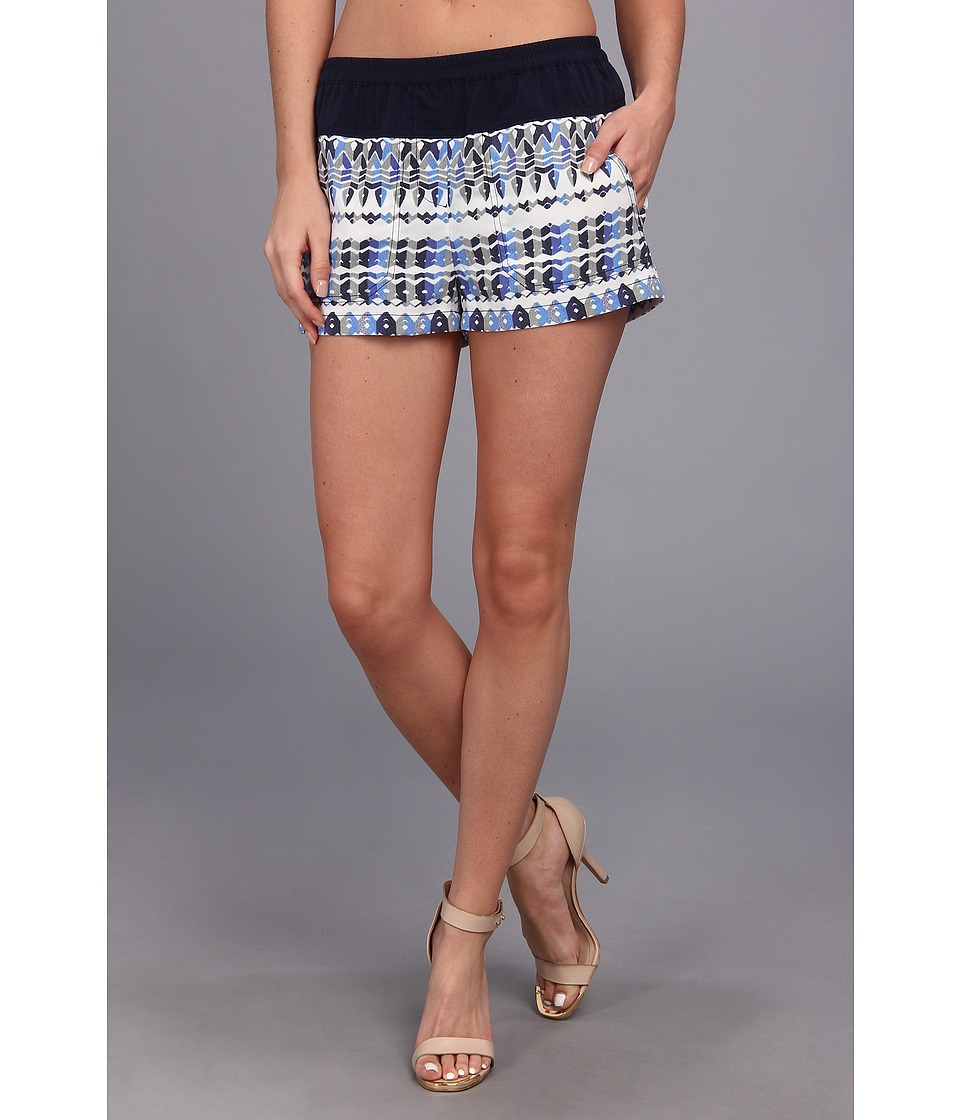BCBGMAXAZRIA - Teagan Woven Sportswear Short (Larkspur Blue Combo) Women's Shorts