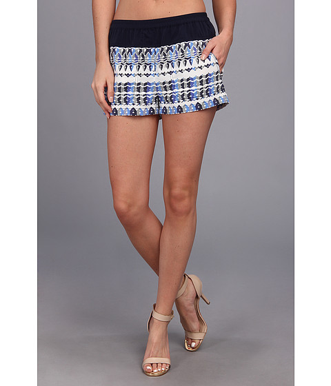 BCBGMAXAZRIA - Teagan Woven Sportswear Short (Larkspur Blue Combo) Women