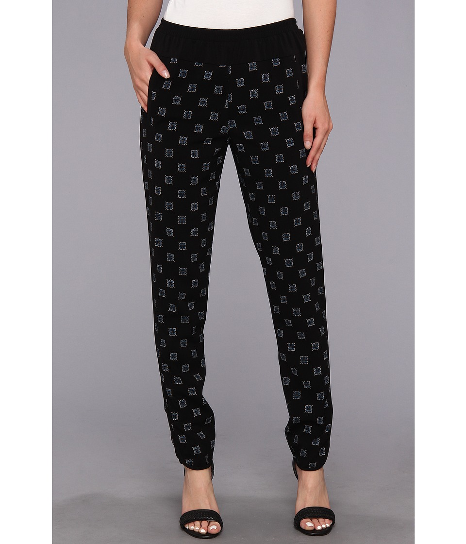 BCBGMAXAZRIA - Wesley Woven Sportswear Pant (Black Combo) Women's Casual Pants
