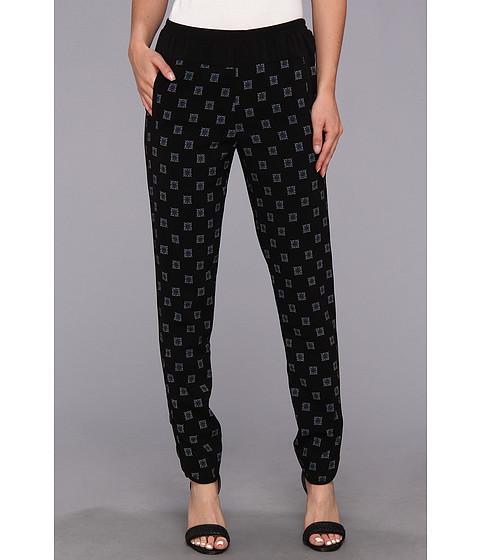 BCBGMAXAZRIA - Wesley Woven Sportswear Pant (Black Combo) Women