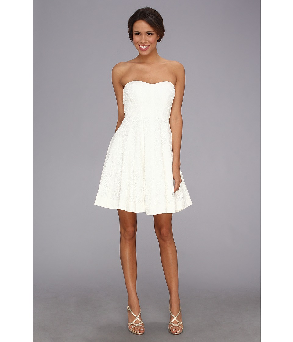 Donna Morgan - Fit Flare White Lace (White Lily) Women's Dress