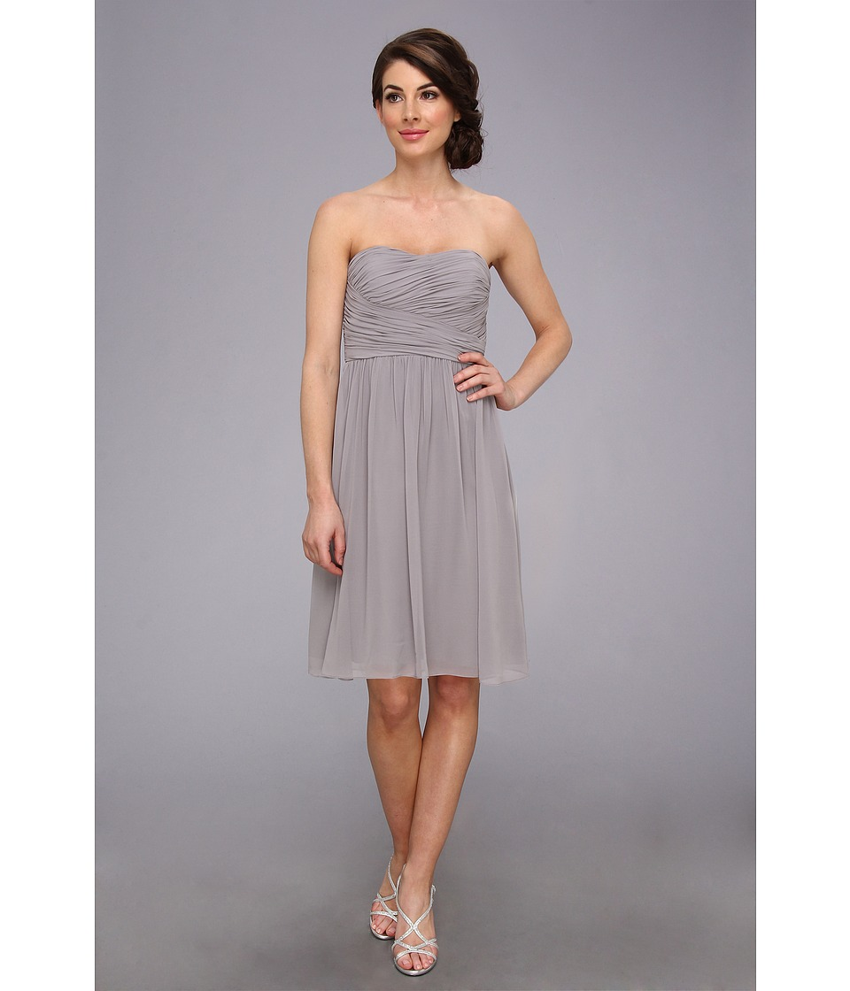 Donna Morgan - Sarah Short Rouched Dress (Sterling) Women's Dress