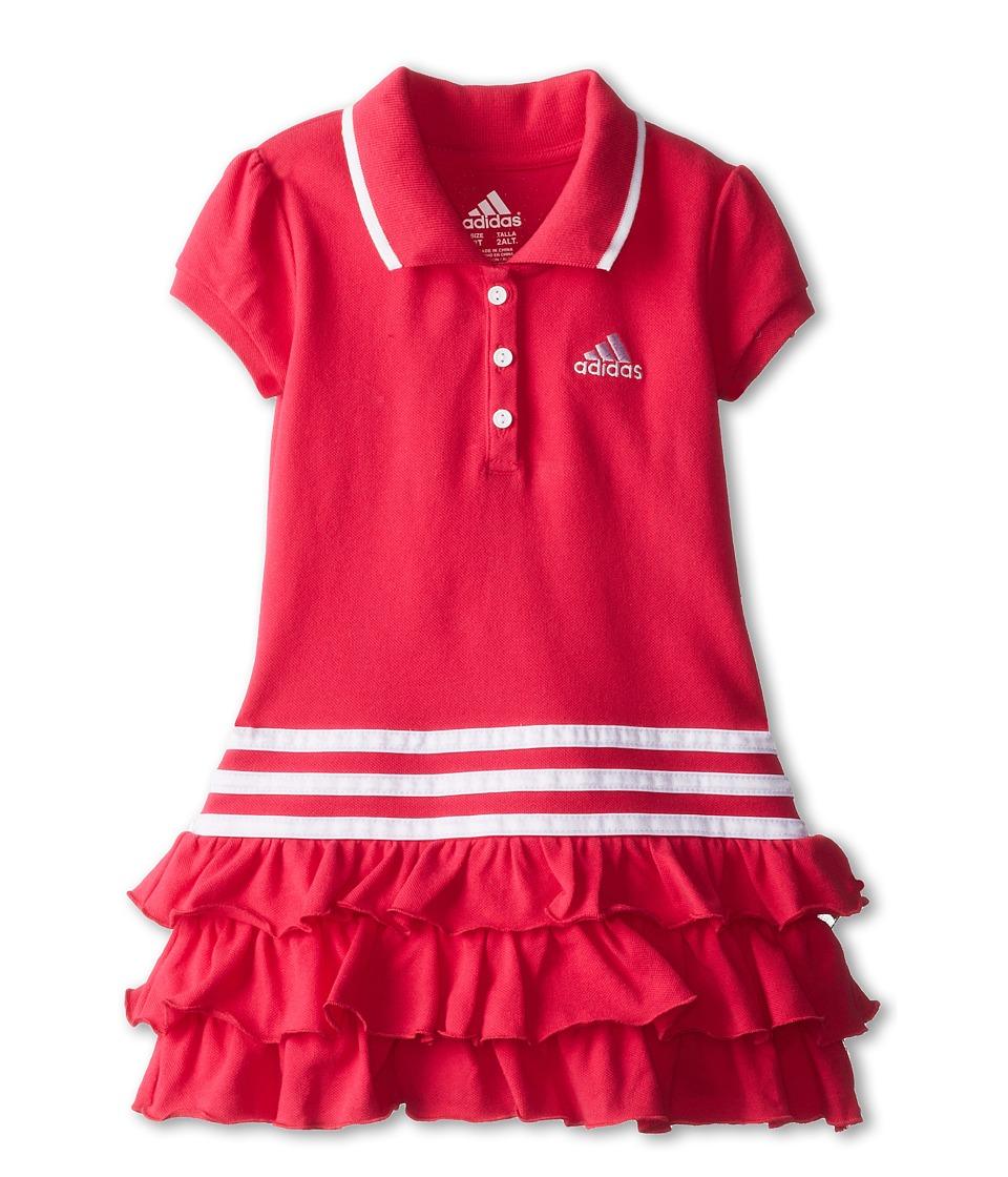 adidas Kids - Triple Tier Polo Dress (Toddler/Little Kids) (Adi Berry) Girl's Dress