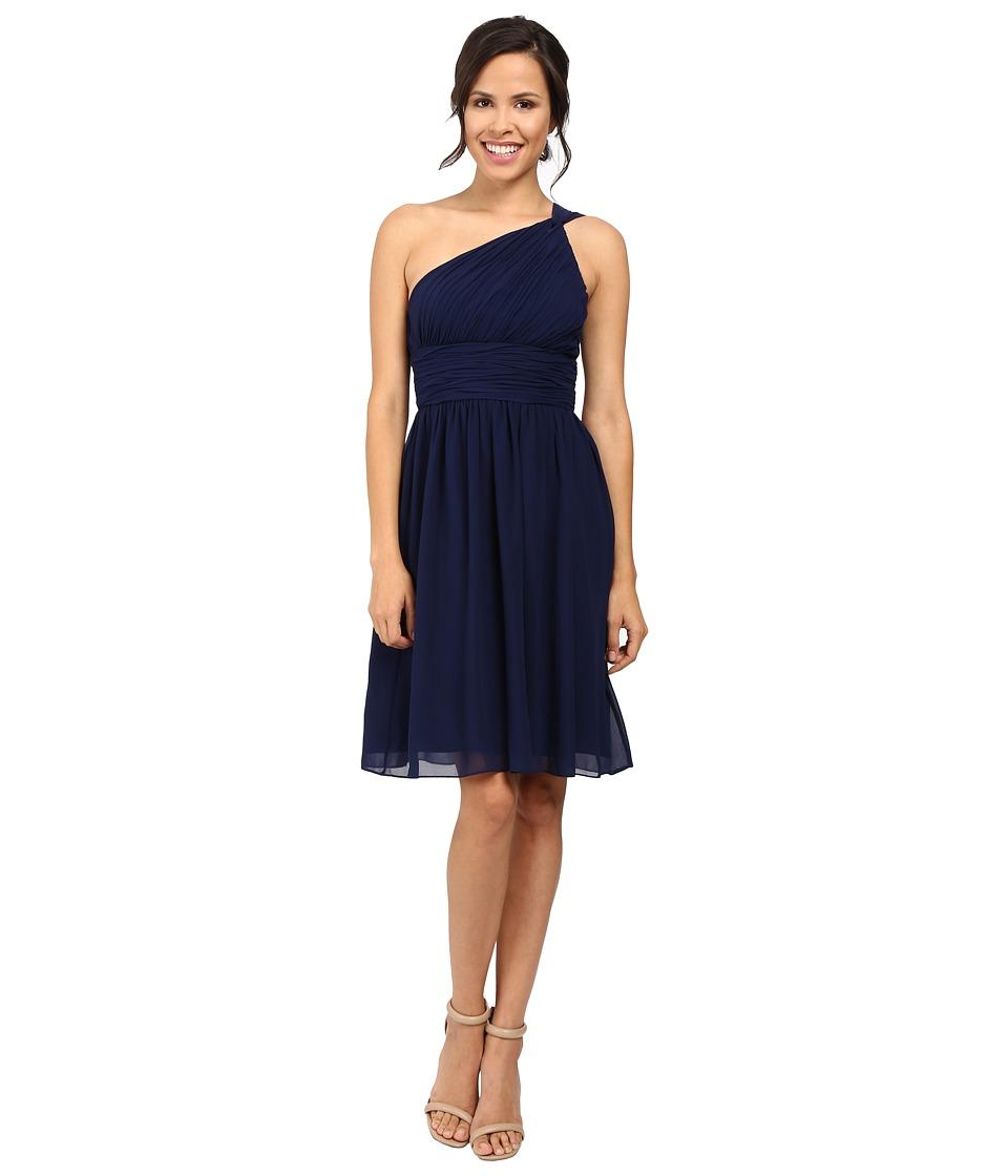 Donna Morgan - Rhea One-Shoulder Dress (Midnight) Women's Dress
