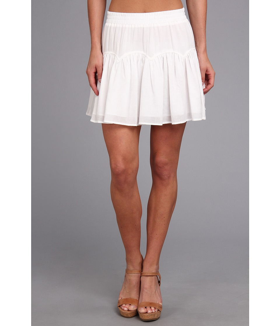 BCBGMAXAZRIA - Lourdes Woven Sportswear Skirt (White) Women's Skirt