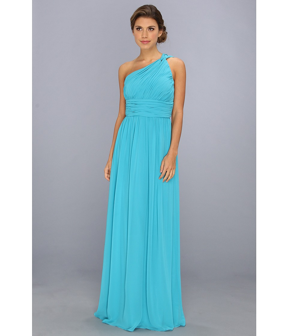 Donna Morgan - One Shoulder Strapless Gown - Rachel (Blue/Green) Women's Dress