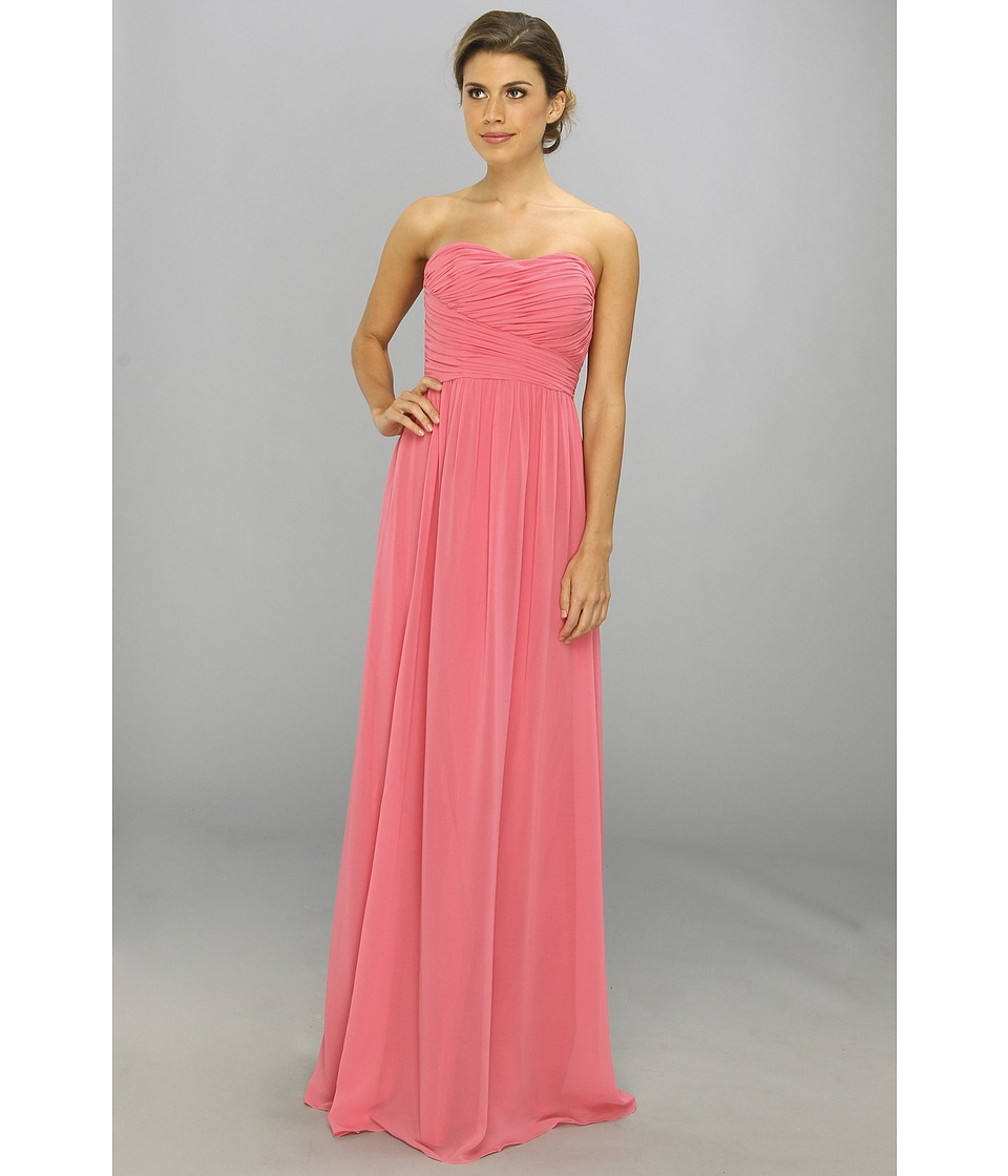 Donna Morgan - Strapless Chiffon Gown - Stephanie (Honeysuckle) Women's Dress