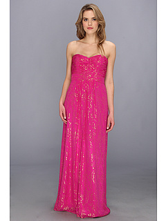 SALE! $216.99 - Save $178 on Laundry by Shelli Segal Gold Drop Chiffon Gown (Ultra) Apparel - 45.07% OFF $395.00