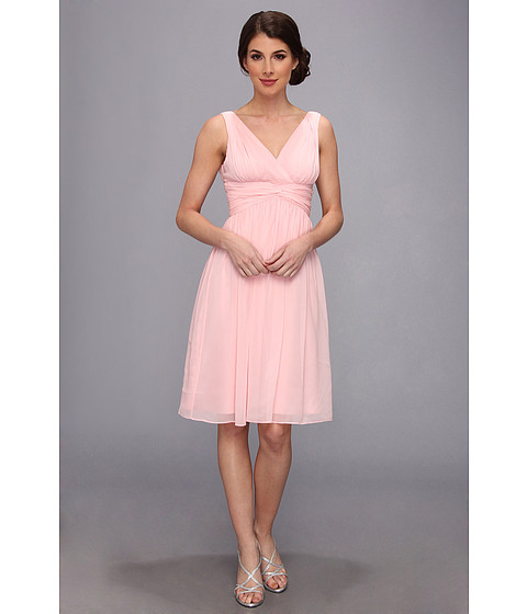 Donna Morgan - Jessie Silk Chiffon Dress (Blush) Women's Dress