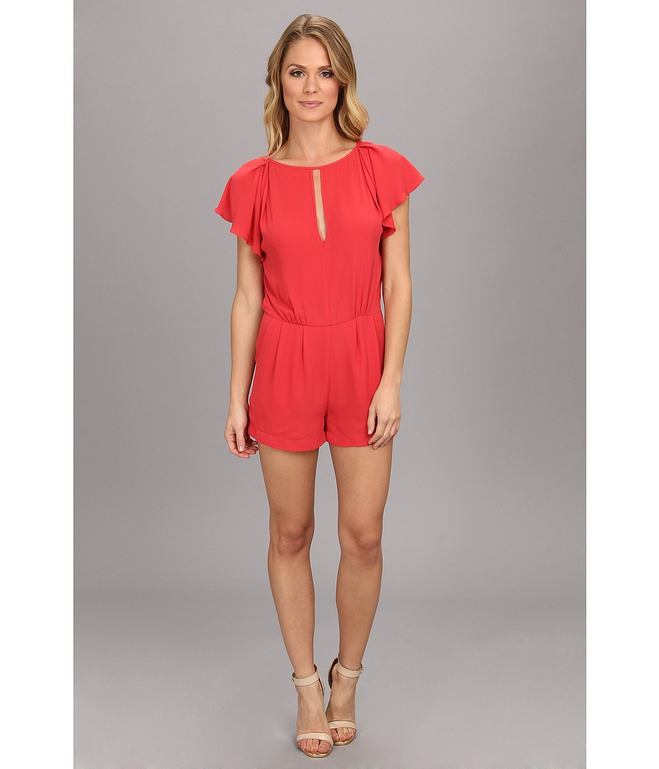 BCBGMAXAZRIA - Karmin Woven Sportswear Jumper (Poppy) Women's Jumpsuit & Rompers One Piece