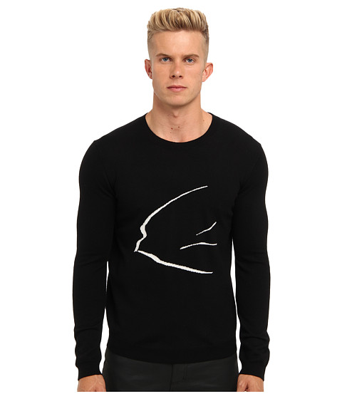 McQ - Ghost Swallow Sweater (Black) Men's Sweater