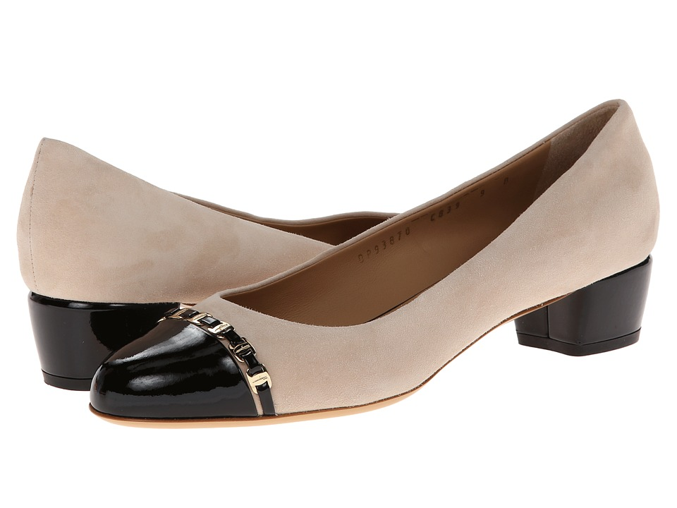 Salvatore Ferragamo - Pim 30 (New Bisque Patent) Women's 1-2 inch heel Shoes