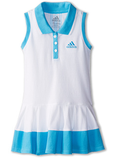 SALE! $14.99 - Save $15 on adidas Kids Box Pleat Polo Dress (Infant) (White w Aquarius) Apparel - 50.03% OFF $30.00