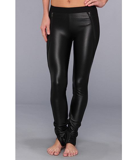 BCBGMAXAZRIA - Slade Knit Pant Faux Leather (Black) Women