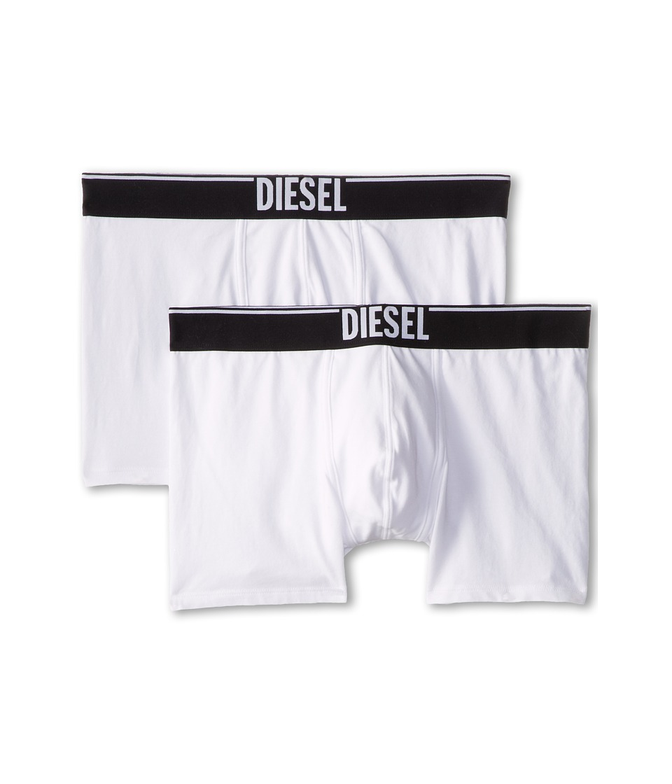 Diesel - Sebastian Long Boxer WAAI 2-Pack (White) Men's Underwear