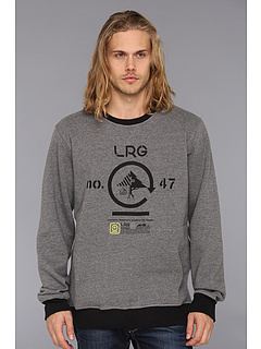 SALE! $16 - Save $48 on L R G Retro Eternity Crewneck Sweatshirt (Charcoal Heather) Apparel - 75.00% OFF $64.00
