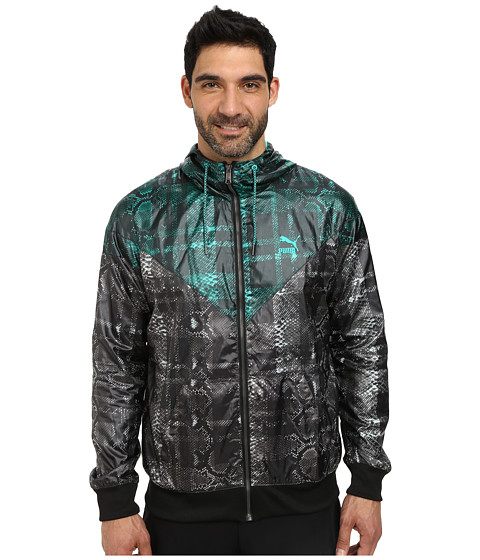 PUMA - Windbreaker (Pool Green) Men's Clothing