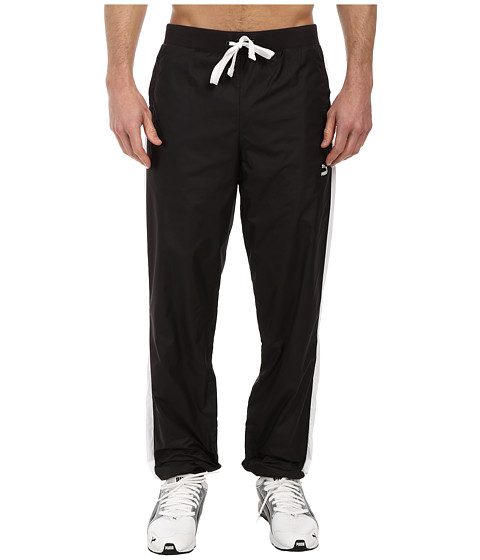 PUMA - T7 Wind Pant II (Black/White) Men's Casual Pants
