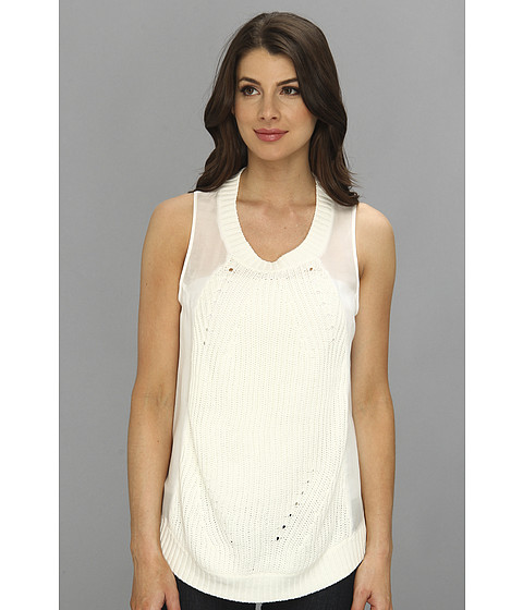 Townsen - Pier Sweater Tank (White) Women's Sleeveless