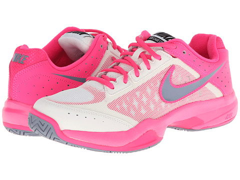 Nike - Air Cage Court (Ivory/Hyper Pink/Dark Magnet Grey/Magnet Grey) Women's Tennis Shoes
