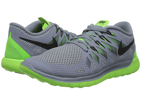 Nike - Nike Free 5.0 '14 (Magnet Grey/Electric Green/Light Magnet Grey/Black) Men's Running Shoes