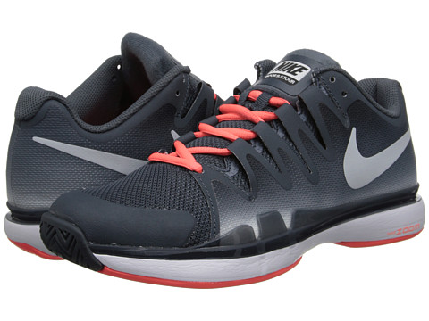 Nike - Zoom Vapor 9.5 Tour (Dark Magnet Grey/Bright Mango/Pure Platinum) Women's Tennis Shoes