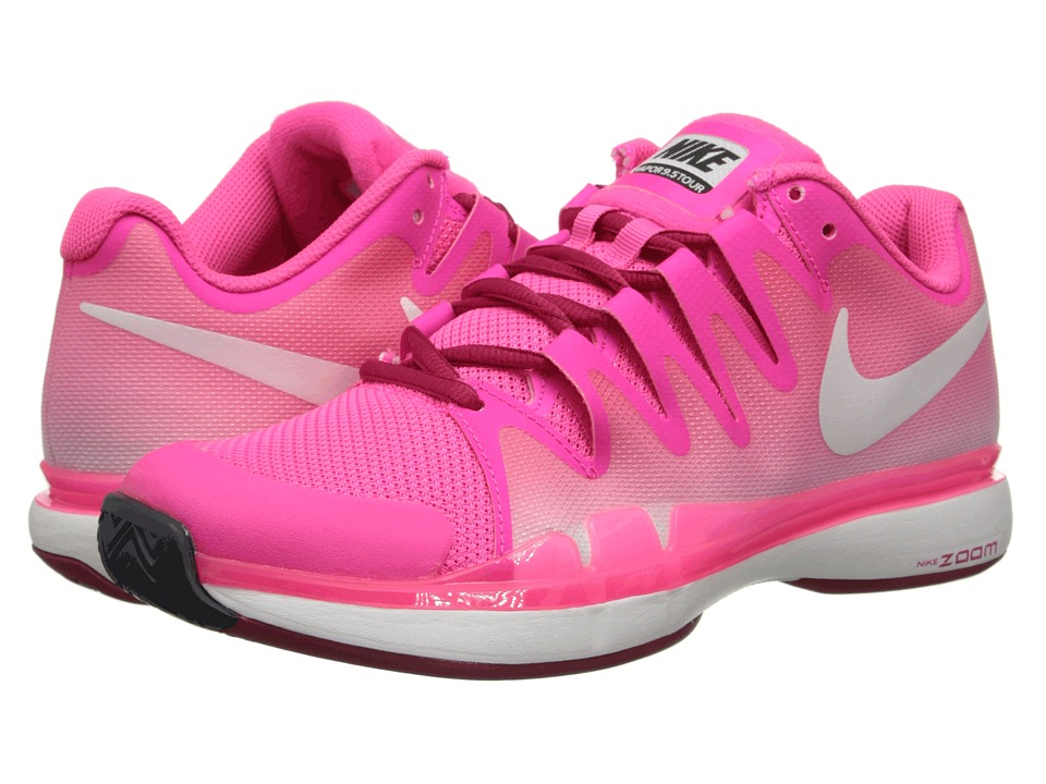 Nike - Zoom Vapor 9.5 Tour (Hyper Pink/Fuchsia Force/Dark Magnet Grey/Ivory) Women's Tennis Shoes