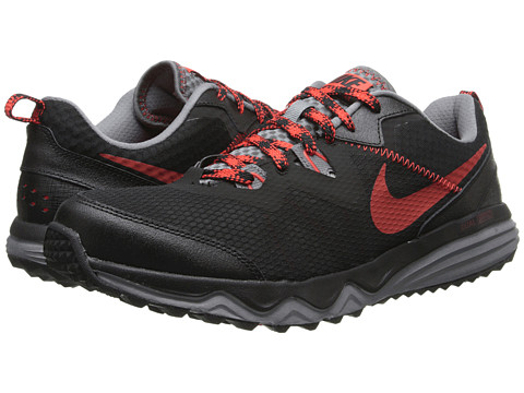 Nike - Dual Fusion Trail (Black/Cool Grey/Challenge Red) Men's Running Shoes