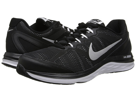 Nike - Dual Fusion Run 3 (Black/White/Cool Grey/Metallic Silver) Men's Running Shoes